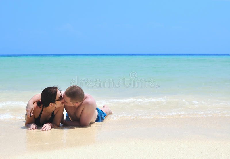 Download Lovers On The Beach Stock Photos - Image: 19058523