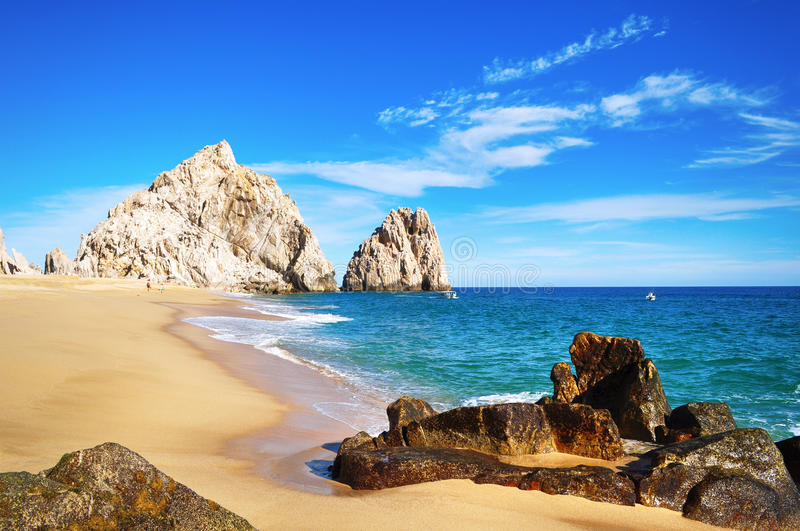 Lovers Beach, Cabo San Lucas royalty free stock images