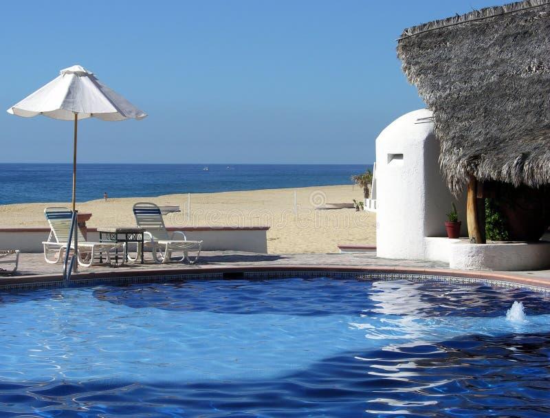 Download Lovers' Beach Resort stock photo. Image of umbrellas, mexico - 6512244