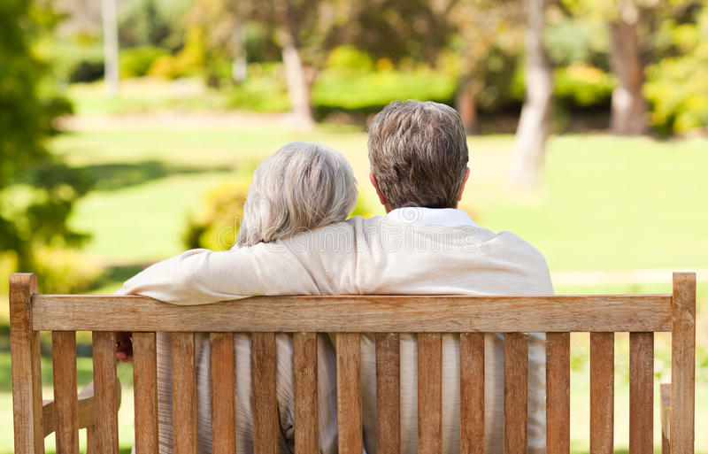 Download Lovers on the bench stock image. Image of senior, lifestyle - 18741875