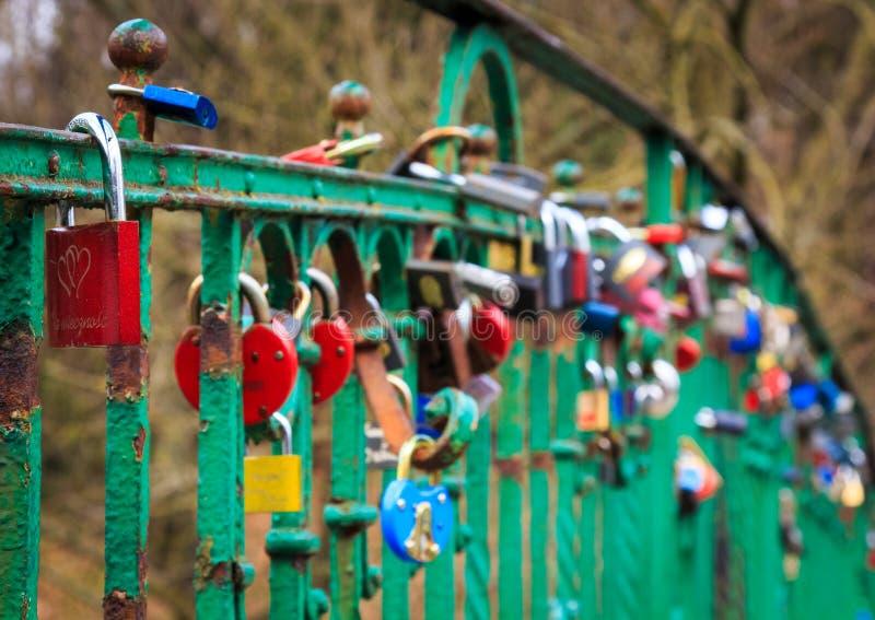 Download Lovers bridge in Szczecin stock photo. Image of attraction - 30283368