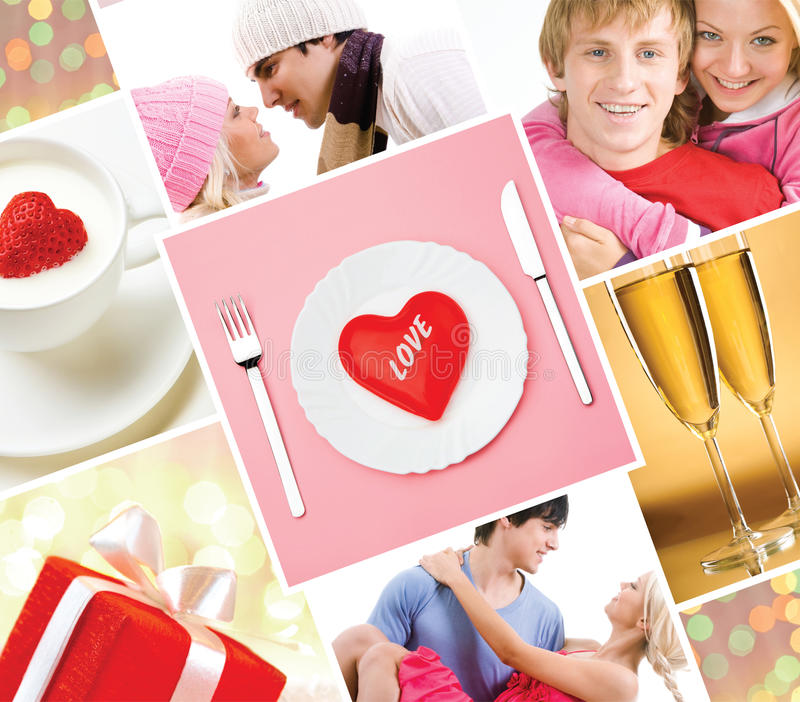 Lovers collage royalty free stock photos
