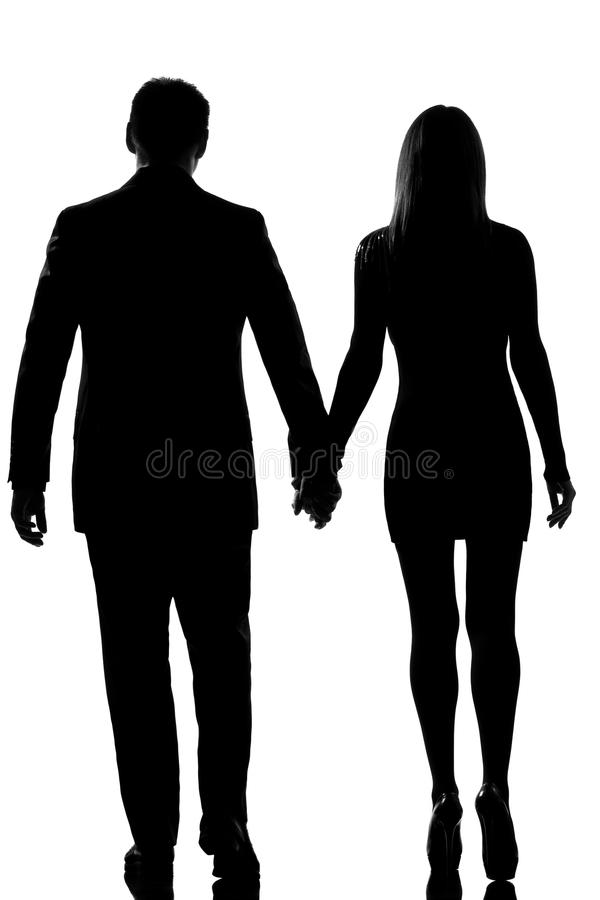 Download Lovers Couple Man Woman Walking Hand In Hand Stock Image - Image: 25961421