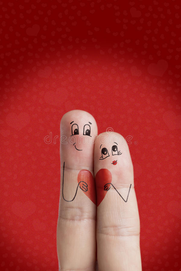 Lovers is embracing and holding red heart. Happy Valentines Day theme series. Stock Image royalty free stock photo