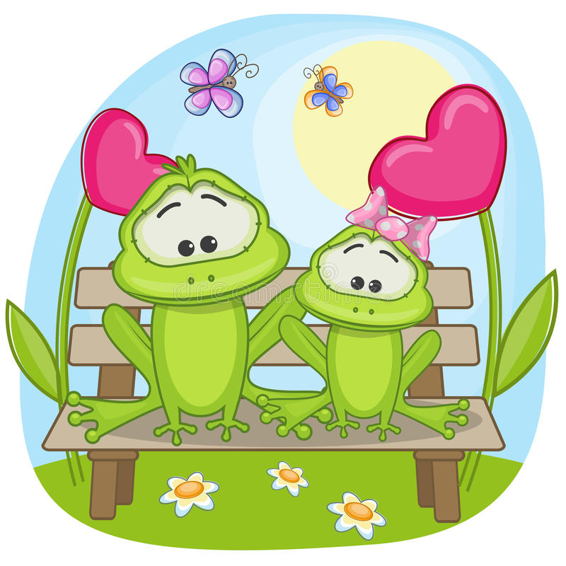 Lovers Frogs vector illustration