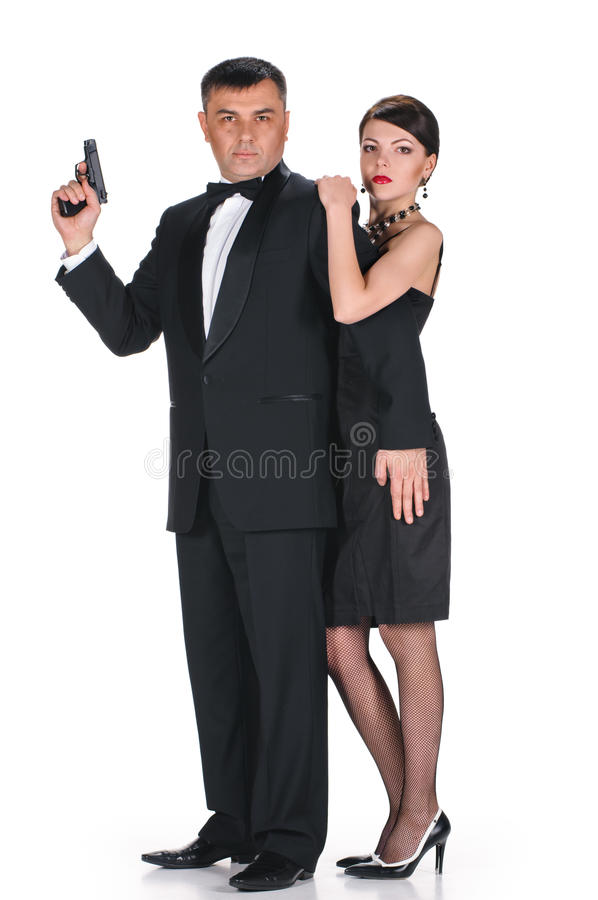 Download Lovers gangsters stock image. Image of caucasian, black - 33333425
