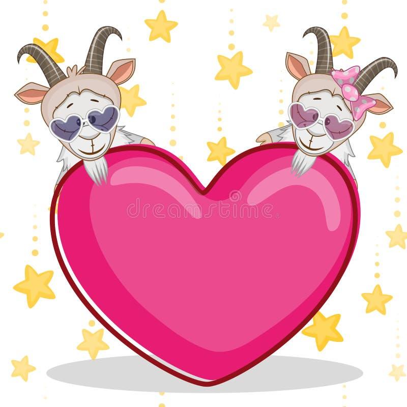 Lovers goats stock illustration