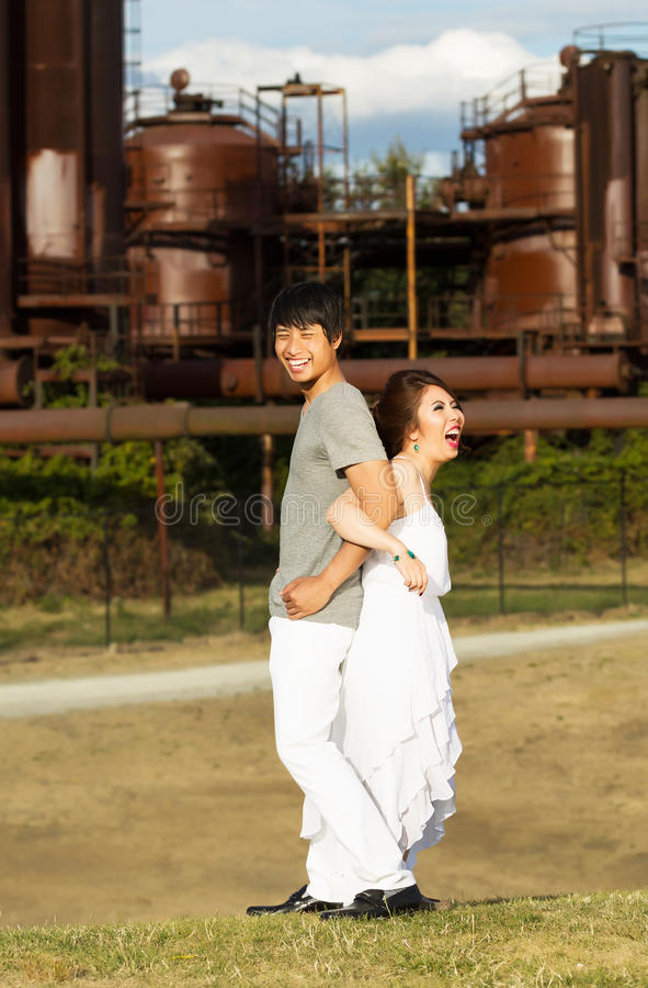 Lovers Having Fun With Each Other Stock Image