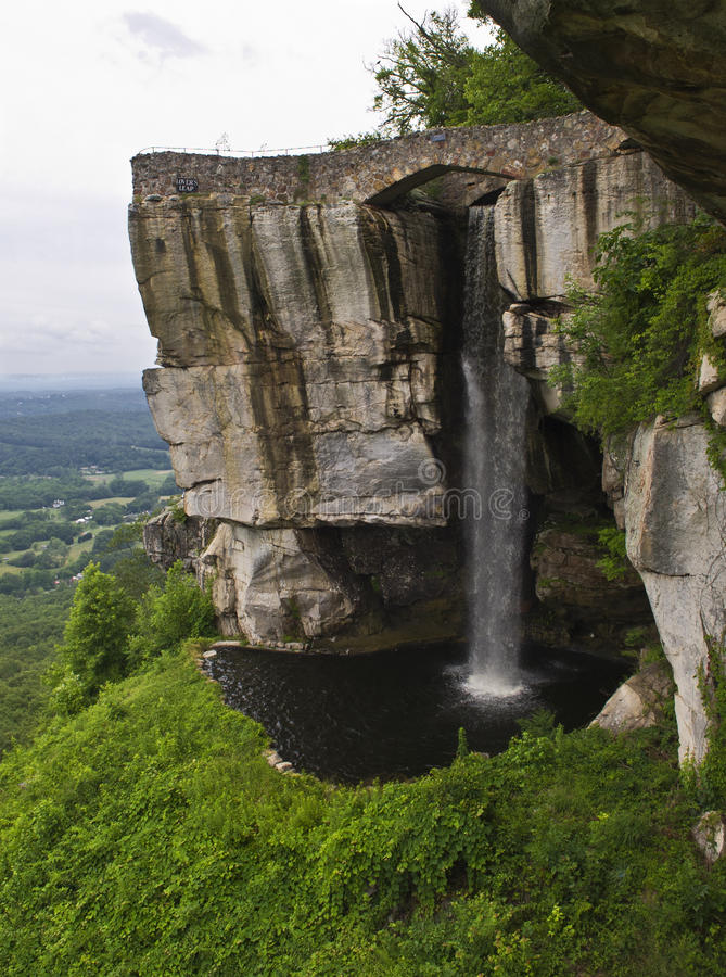 Lovers Leap. A view of Lover's Leap on top of Lookout Moutain in Georgia stock images