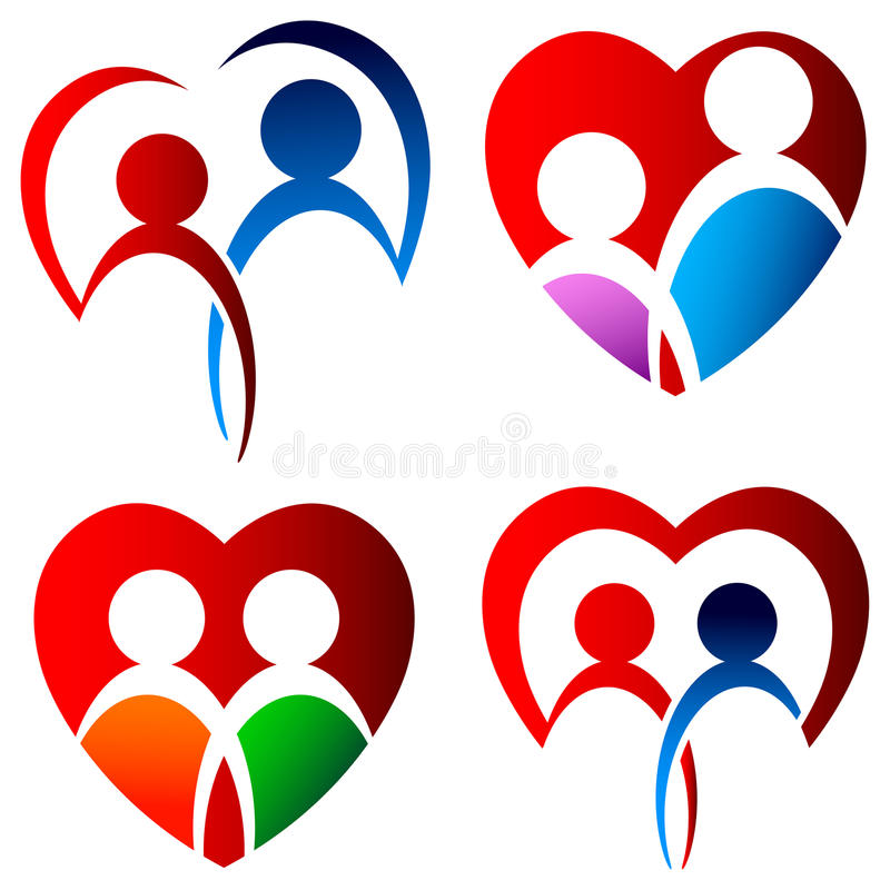 Download Lovers Logo Set Stock Vector - Image: 39698947