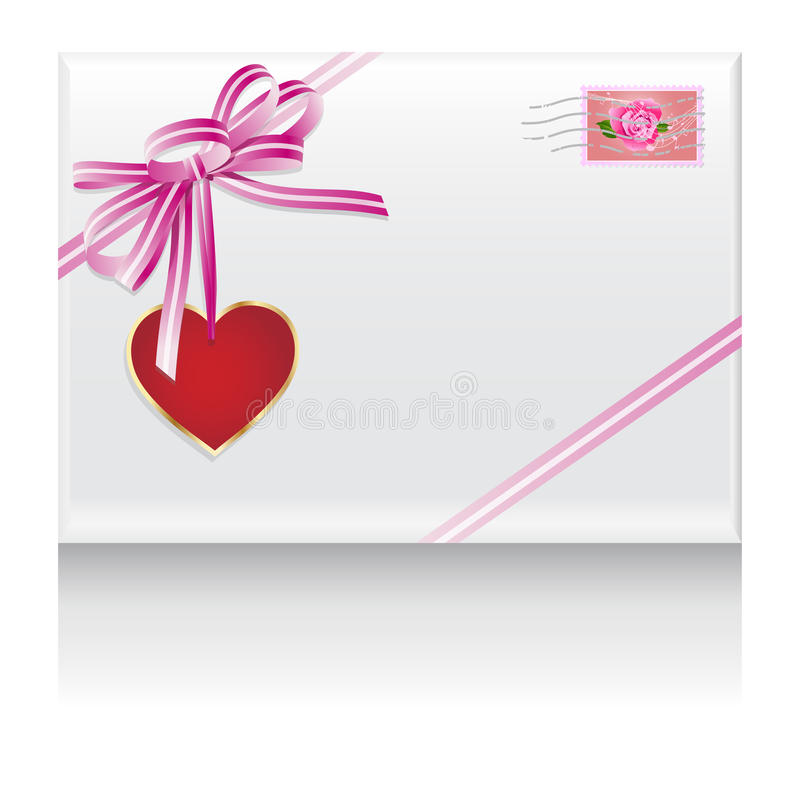 Download Lovers mail heart in love stock illustration. Illustration of lovers - 22466182