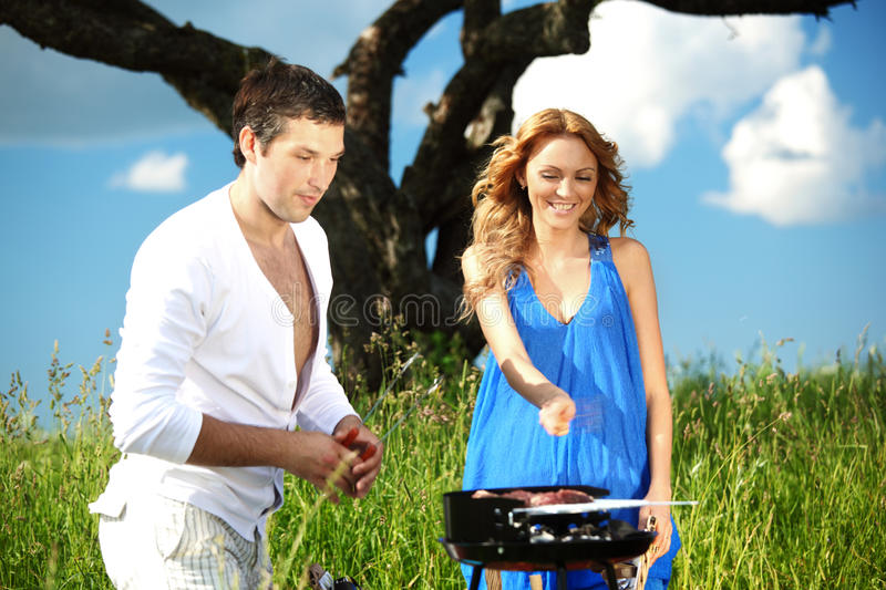 Download Lovers on picnic stock image. Image of outdoor, female - 18577683