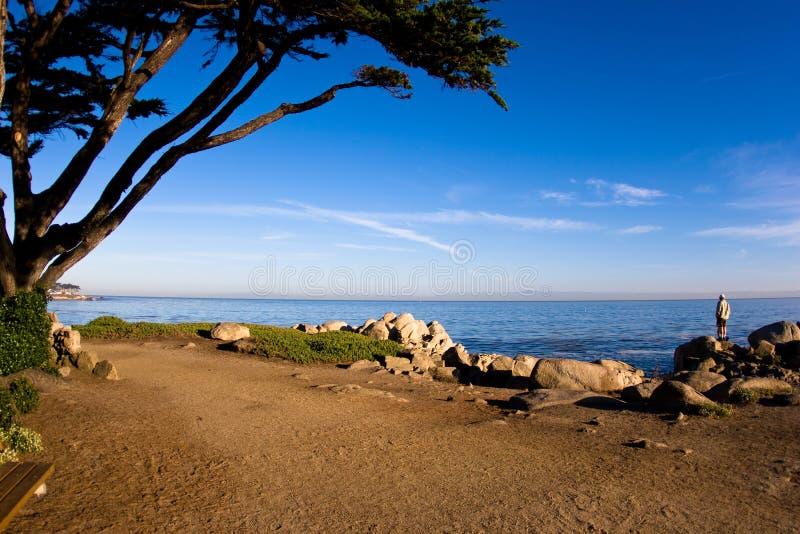 Lovers Point Monterey California stock photo