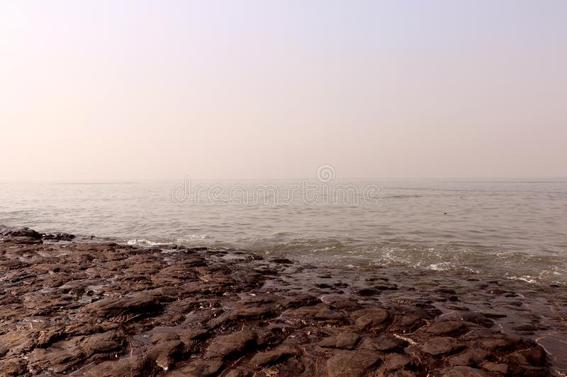 Lovers Point of Mumbai for couples Bandstand beach located in Bandra. Famous Lovers Point of Mumbai for couples Bandstand beach located in Bandra is one of the royalty free stock image