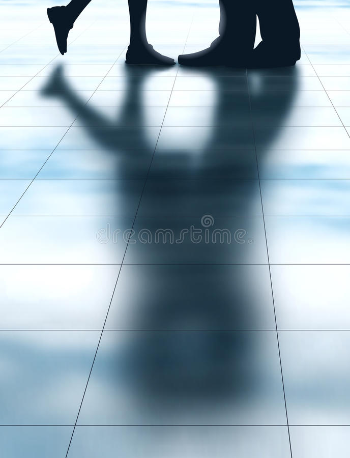 Download Lovers shadow stock vector. Image of meet, floor, goodbye - 31655439