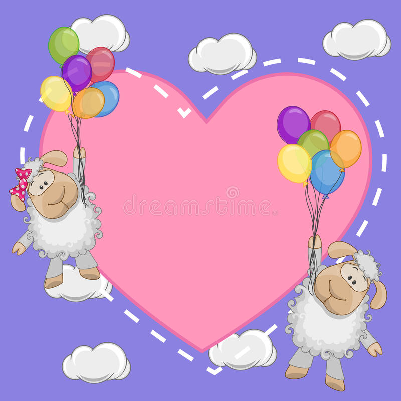 Lovers Sheep vector illustration