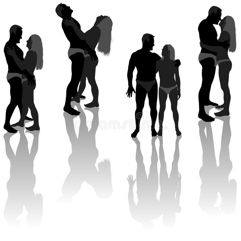 Download Lovers Silhouettes stock vector. Image of silhouette - 26524315