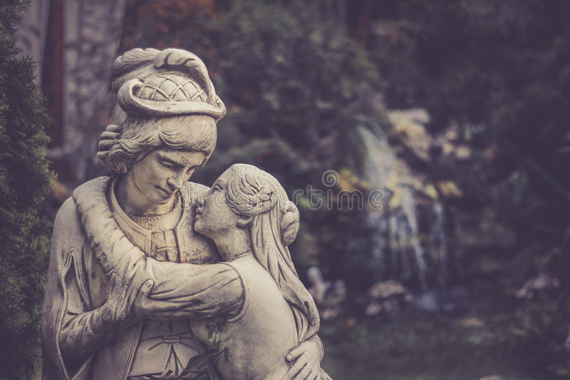 Lovers statue royalty free stock photography