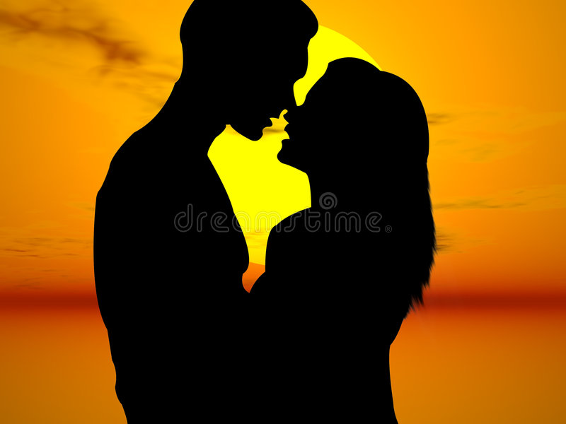 Lovers in the sun royalty free illustration