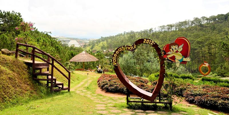 Lovers valley at Da Lat city Vietnam royalty free stock photography
