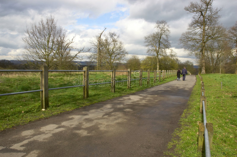 Download Lovers walk in the park stock photo. Image of cloudy, date - 745468