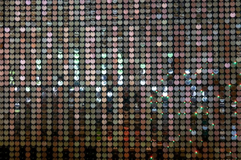 Lovertjemuur met lichte bezinning voor decoratie van de luxe de binnenlandse muur stock afbeelding