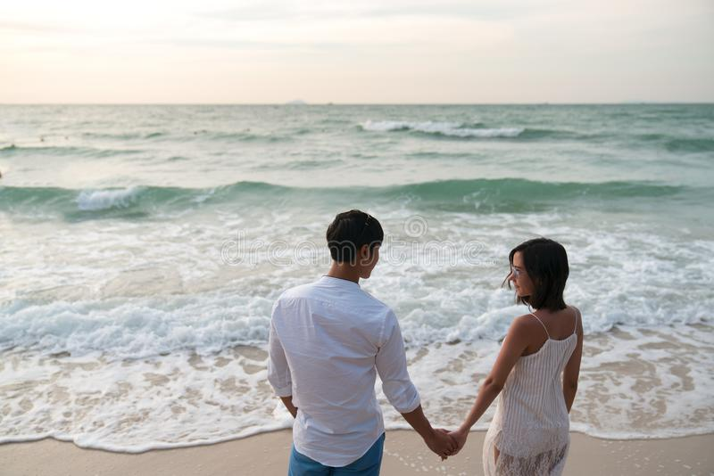 Loves on beach. 1 2 3 royalty free stock photography