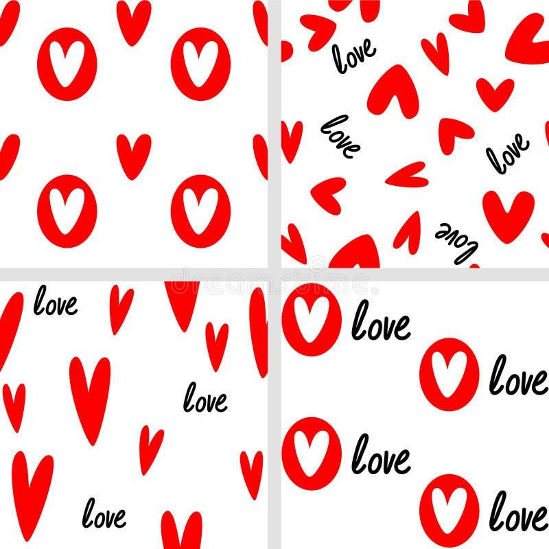 Download Loves seamless stock vector. Illustration of heart, love - 28885272