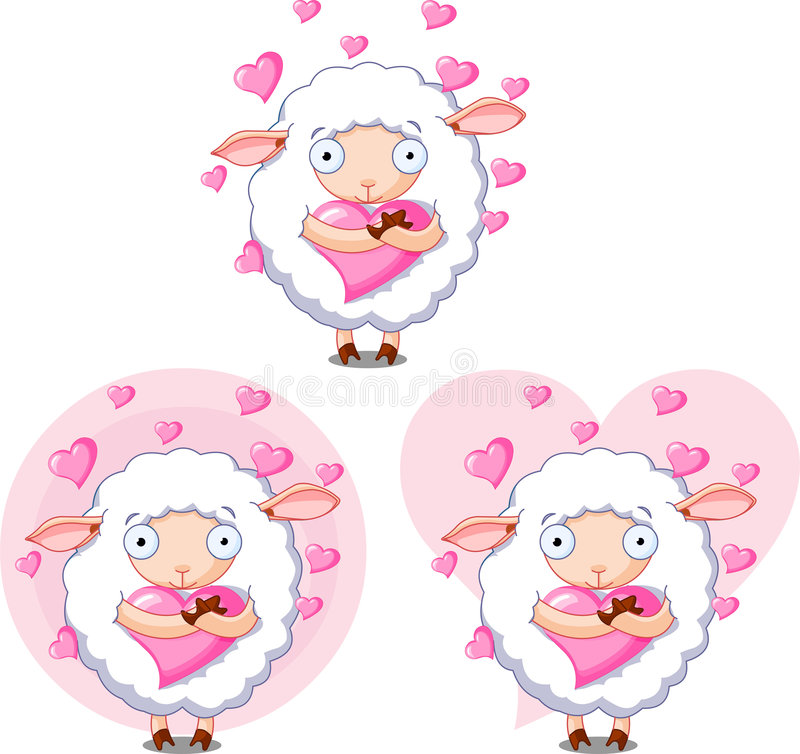 Lovesheep royalty illustrazione gratis