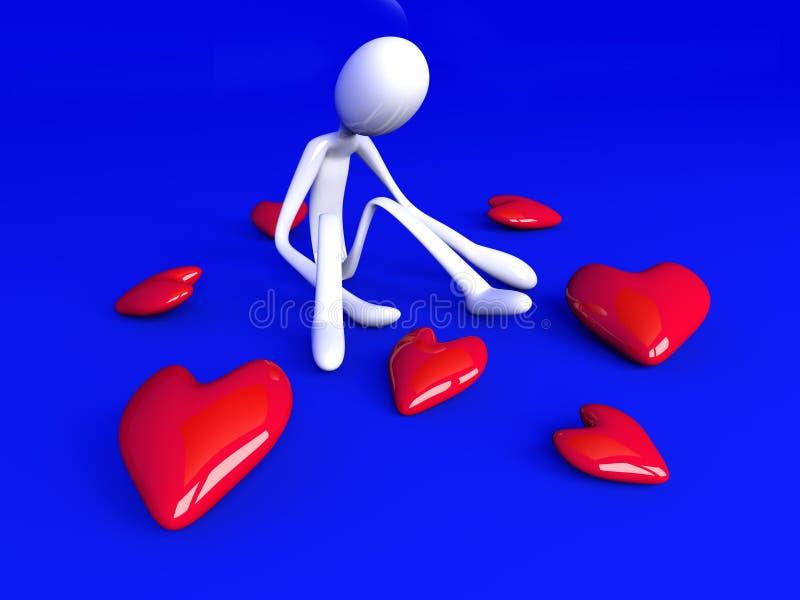 Download Lovesick stock illustration. Illustration of hopelessness - 13392540