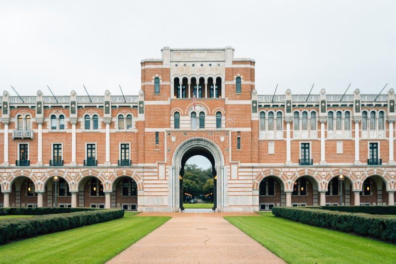 Lovett Hall, chez Rice University à Houston, le Texas photographie stock libre de droits