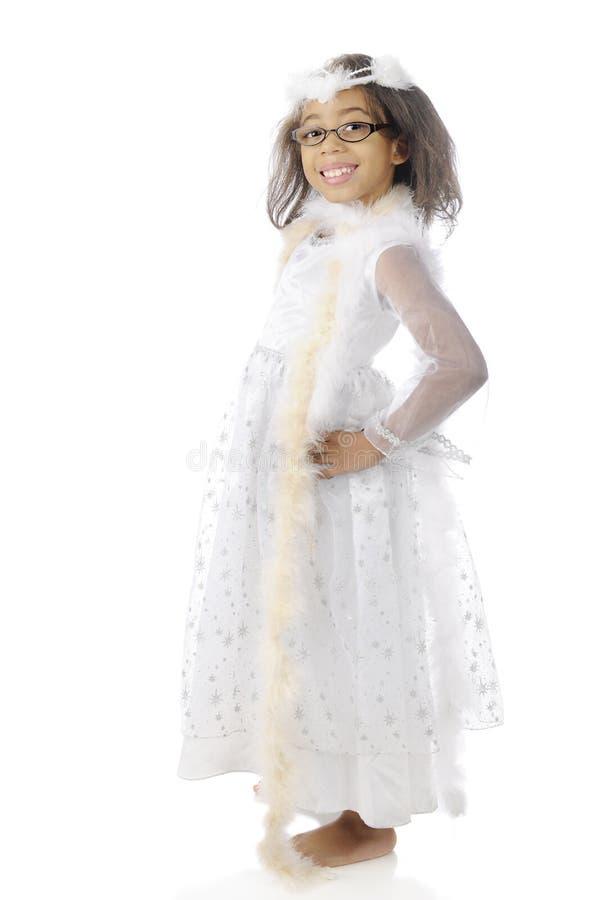 Lovin il suo vestito grazioso immagini stock libere da diritti
