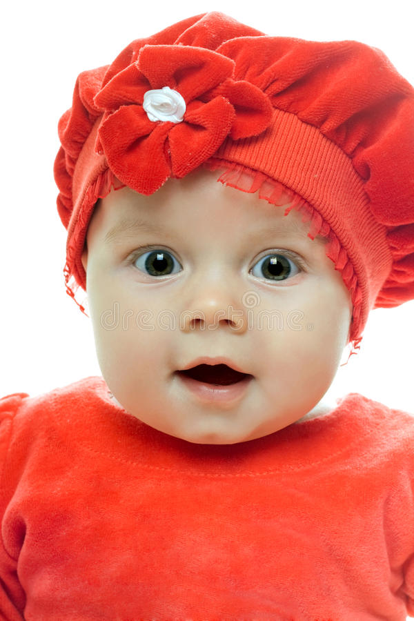 Loving baby girl stock images