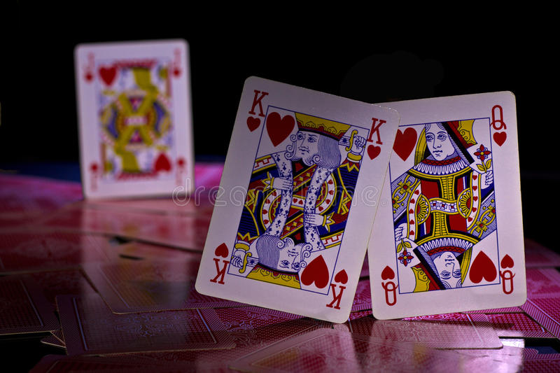 Loving cards. Envious lover staring at a wife and husband royalty free stock photography