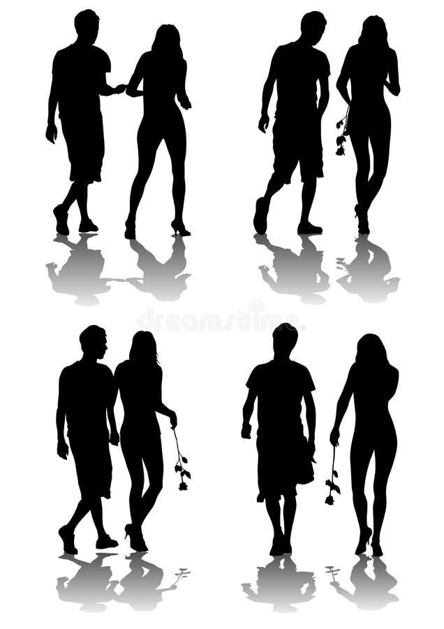 Loving couple vector illustration