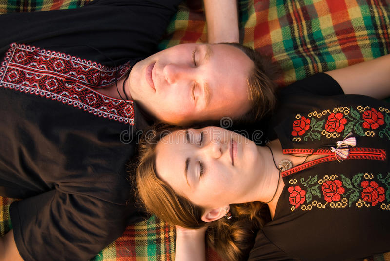 Download Loving couple stock photo. Image of outdoor, male, pattern - 12554572