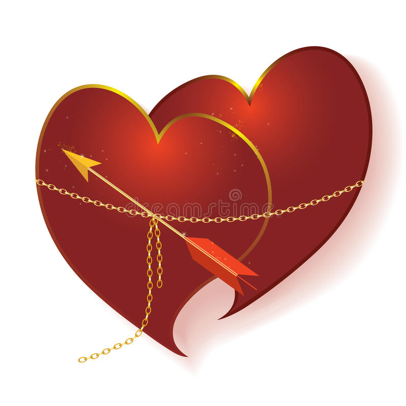 Download Loving couple stock vector. Image of golden, star, allegorical - 17729210