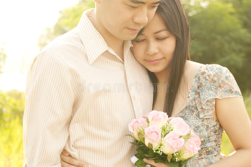 Download Loving Couple stock photo. Image of girl, bouquet, bonding - 19106928