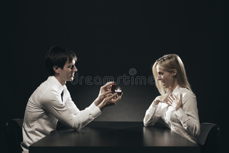 Download Loving couple stock photo. Image of space, ring, copy - 27392294