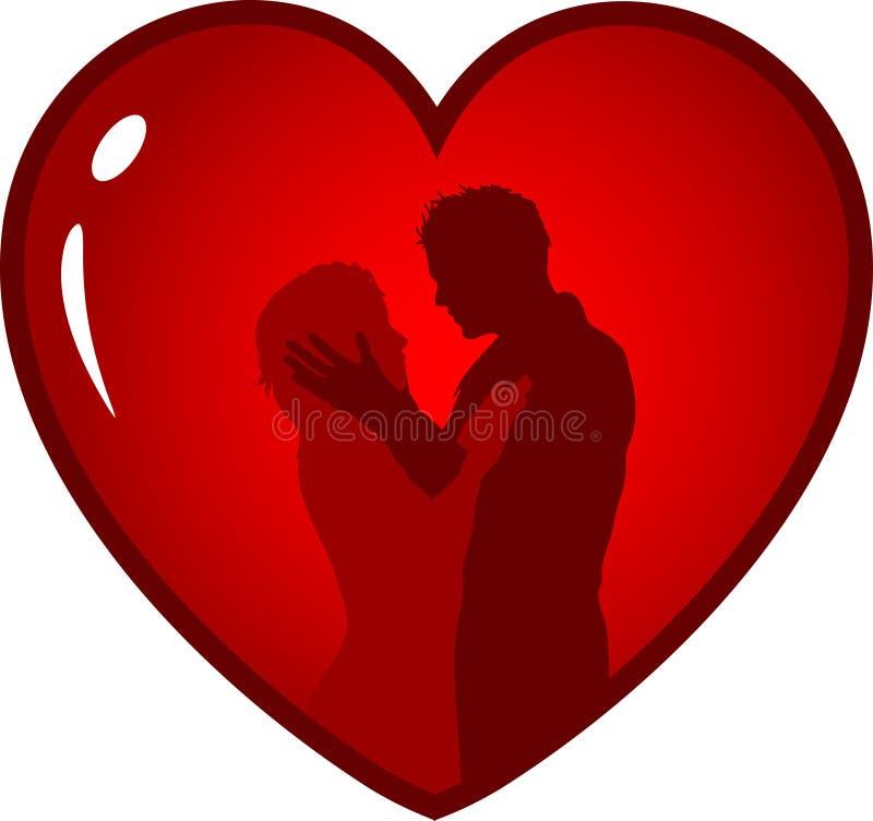 Loving couple stock illustration