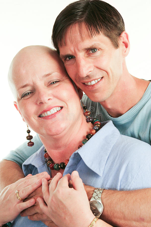 Loving Couple Beats Cancer stock image