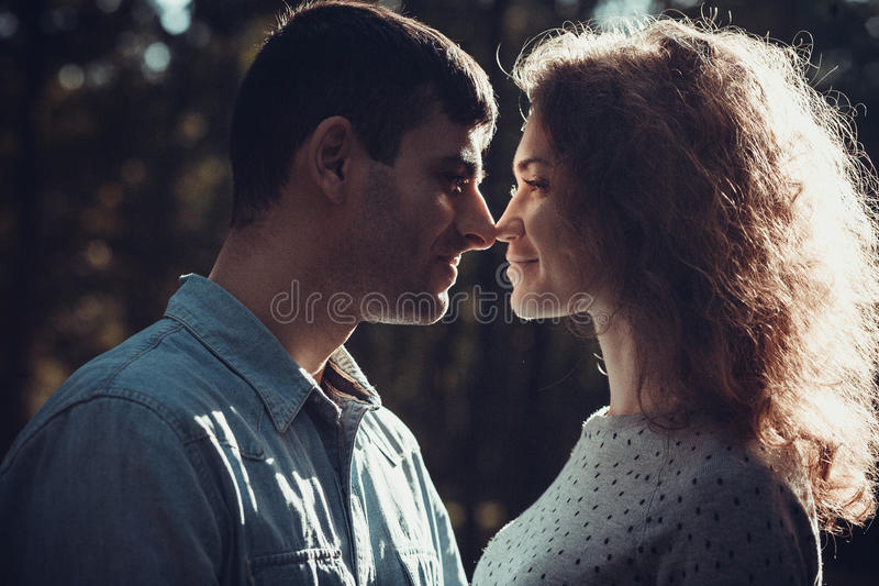 Loving couple stock images