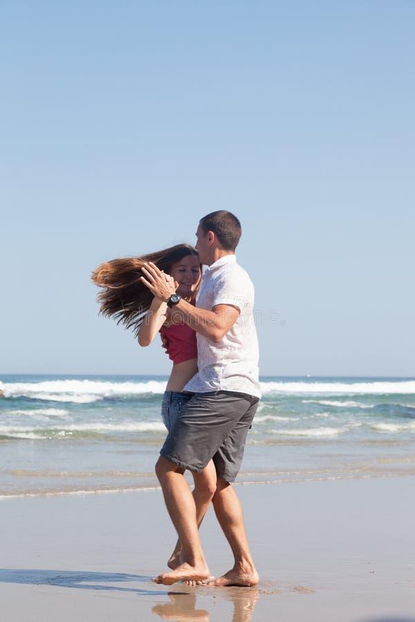 Loving couple dances royalty free stock image