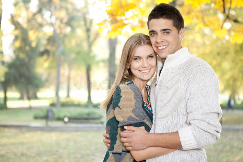 Loving Couple Embracing Stock Photo