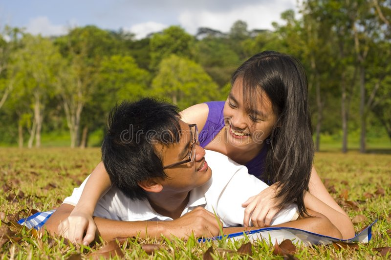 Loving Couple In The Outdoor Stock Photography