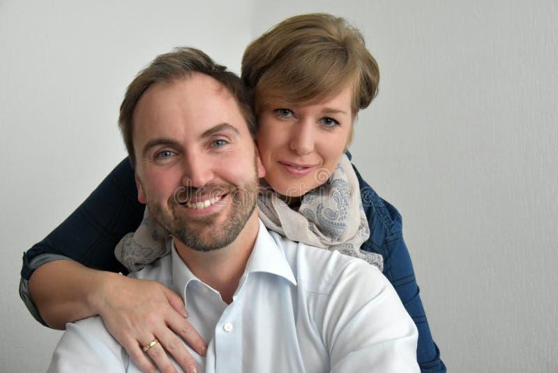 Loving couple. Portrait of cute loving couple stock images
