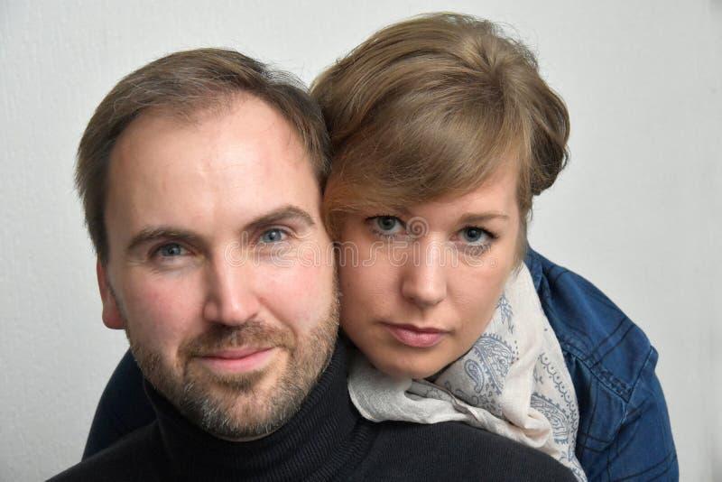 Loving couple. Portrait of cute loving couple stock photos
