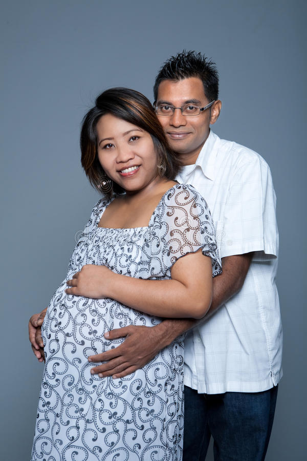 Download Loving Couple Proud To Be Expecting Their First Ba Stock Photo - Image: 9548468