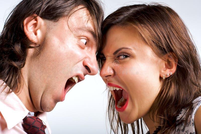 Loving divorce close-up stock image