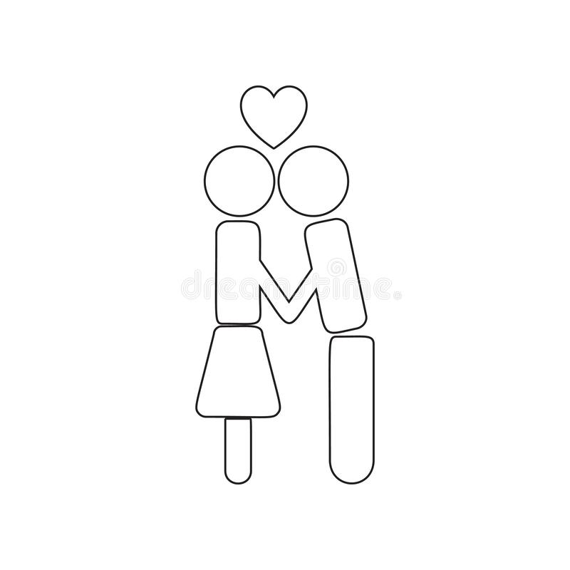 Loving family icon. Element of valentine\'s day, wedding for mobile concept and web apps icon. Outline, thin line icon for website. Design and development, app stock photos